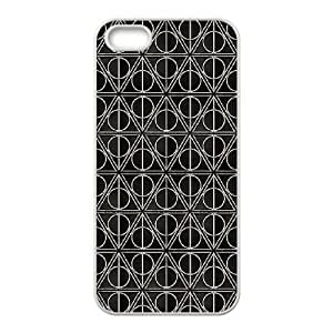 iPhone 5,5S phone cases White Deathly Hallows Phone cover KLW4115189
