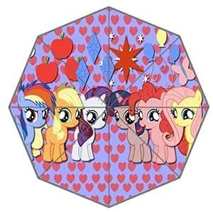 Printing My little pony Anti-sun and rain three folding umbrella Eco and durable Polyester fabric Christmas gift umbrella