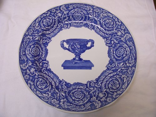 Room Plate Blue Collection Dinner (Spode Blue Room Collection Warwick Vase Dinner Plate)