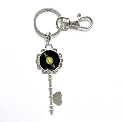 Amazon com : Saturn Key Keychain Astrology Jewelry Chronos