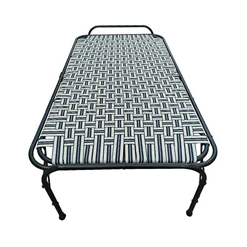 AARAM CHARPAI UDYOG Double Pipe Folding Bed Size 36 X 72 | Folding Bed for Sleeping Purpose | Extra Strong (36″ X 72″)