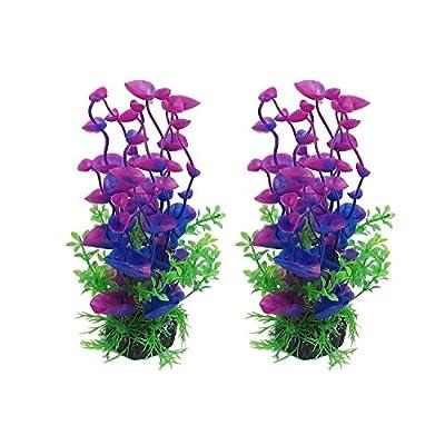 CNZ Aquarium Decor Fish Tank Decoration Ornament Artificial Plastic Plant Green