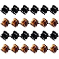 24 Pieces Mini Hair Clips Plastic Hair Claws Pins Clamps for Girls and Women