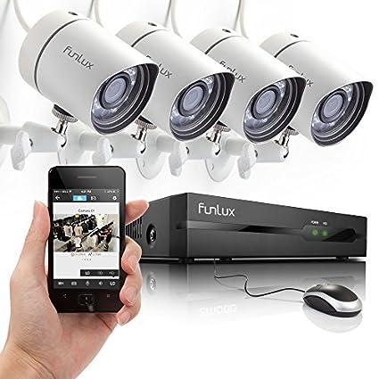Zmodo Outdoor 720P HD 1,000,000 pixels IP netzwek Cámara Vigilancia 4 Cámaras de vigilancia Juego Exterior