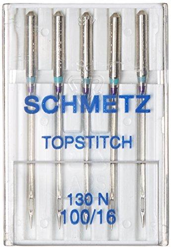 Schmetz 1798 Topstitch Machine Needle Size 16/100 (100 Sewing Schmetz Needles)