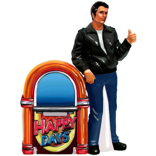 Westland Giftware Happy Days Magnetic Fonz and Jukebox Salt and Pepper Shaker Set, 4-1/2-Inch ()