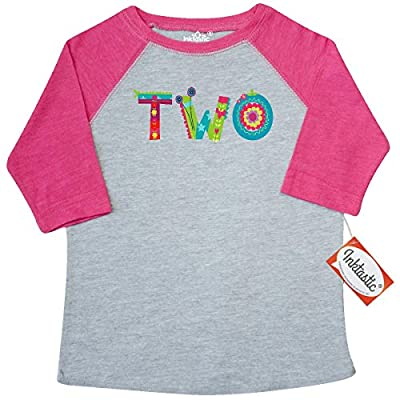 Inktastic Little Girls' Blooming 2nd Birthday Toddler T-Shirt 3T Heather and Hot Pink