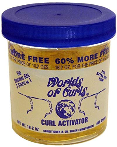 Worlds of Curls Curl Activator for Extra Dry Hair, 16 Ounce (World Of Curls Activator Gel Natural Hair)