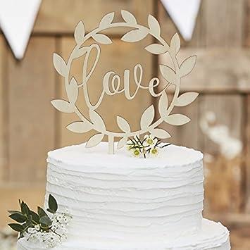 Kuchen Aufsatz Love Kuchen Stecker Torten Aufsatz Aus Holz