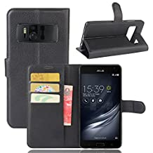"""Asus Zenfone AR ZS571KL Case , New Luxury Flip Stand PU leather Cover Wallet Case for Asus Zenfone AR ZS571KL 5.7"""" Phone Plus Case + Screen Protector"""
