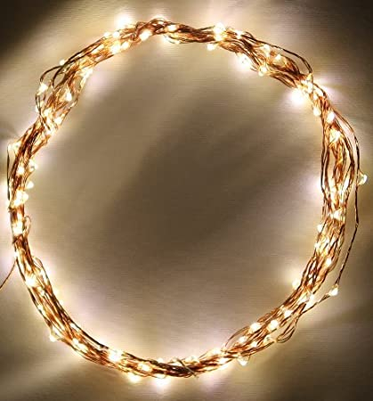 Luces de Cuerda de alambre de cobre por - 120 Warm White LED - 20 pies