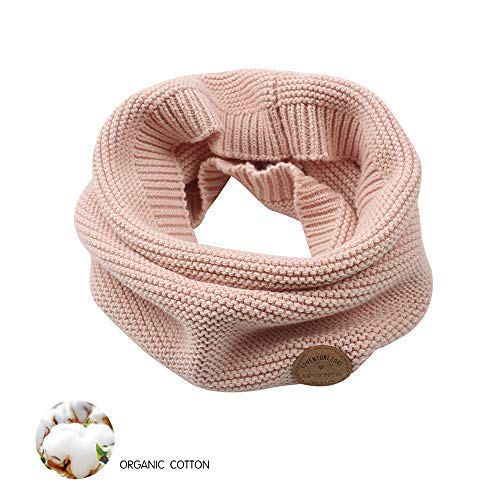 XIAOHAWANG Baby Winter Scarf Kids Thick Knit Scarves Toddler Neckerchiefs Lovely (Pink)