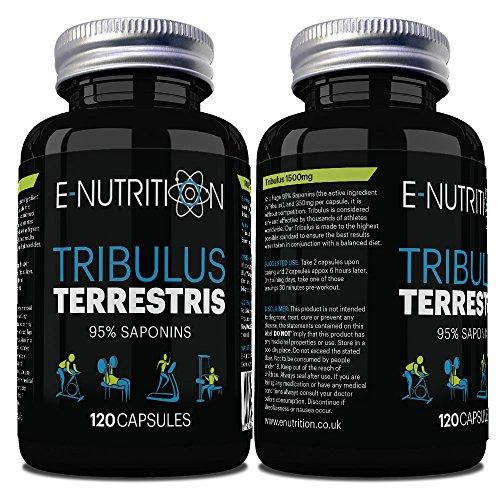 E-Nutrition Tribulus Terrestris 95% Saponins 120 Capsules - Quality Natural...