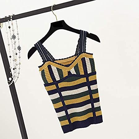 Amazon.com: Autumn Water Hollow Out Crop Tops Summer Retro Patchwork Knit Camis Shirt Women Slim Thin Tank Tops Sleeveless Vest: Kitchen & Dining