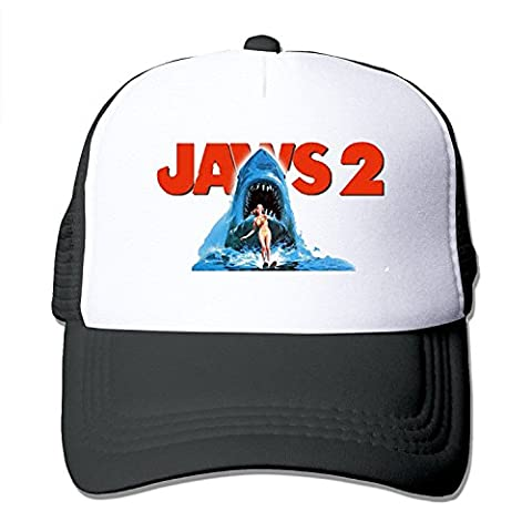 Bekey Healthy Jaws 2 Classic Optimum Cap Front Fashion Printed Black (Movie Cool Dry Place)