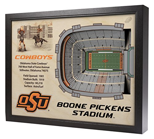 NCAA Oklahoma State Cowboys - BOONE Pickens Stadium Stadiumview Wall Art, One Size, Birch Wood by Sportula