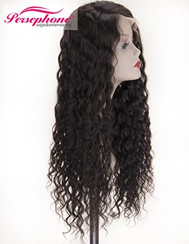 Persephone Real Looking Pre Plucked 360 Lace Wig with Baby Hair 150% Density Brazilian Curly Lace Front Human Hair Wigs for Black Women 14inches Natural Brown Color by Persephone Lace Wig (Image #3)
