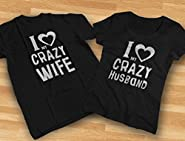 Tstars Funny Husband & Wife Couples Gift Anniversary/Newlywed Matching Set T-Shirts