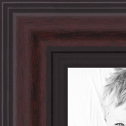 ArtToFrames 15x20 inch Traditional Cherry with Steps Picture Frame, - Masculine Picture Frames