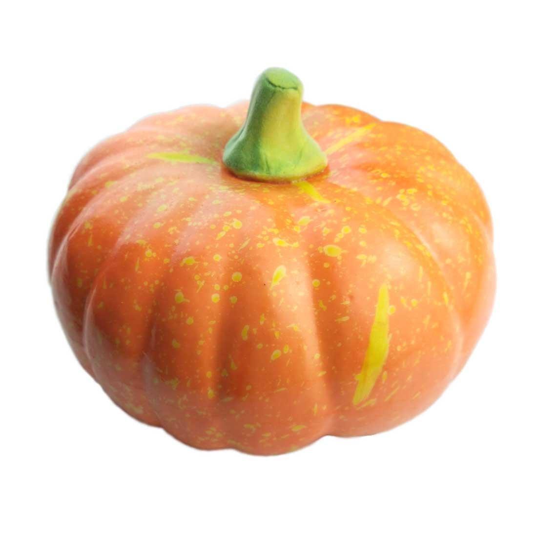 Lorigun Artificial Simulation Big Pumpkin 7.8 Inch Lifelike Fake Vegetable Halloween Home Decoration Company Festive Decor by Lorigun