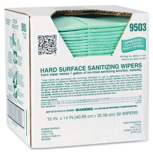 ITW9503 - ITW Simple Solutions Hard Surface Sanitizing (Surface Wipers)