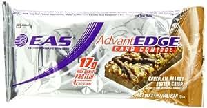 EAS AdvantEdge Carb Control Nutrition Bar, Chocolate Peanut Butter Crisp, Net Wt. 2.11 Oz Bar Pack of 12
