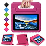 TIRIN All New Fire 7 2017 Case - Light Weight Shock Proof Handle Kid-Proof Cover Kids Case for All New Fire 7 Tablet (7th Generation, 2017 Release), Rose
