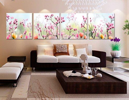 Yimei Art Canvas Wall Art Panels Plum Blossoms Print On Canvas Giclee Artwork for Wall Decor (Plum Blossom Princess Costume)