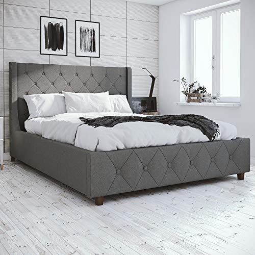 CosmoLiving Mercer Upholstered Bed - Queen - Grey ()