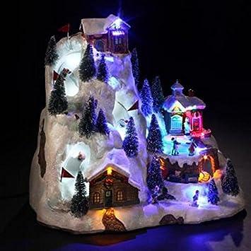 Light-Up Animated Christmas Village: Super-G Ski Village: Amazon ...