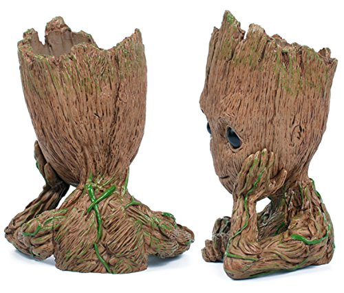 Fashion Guardians of The Galaxy Flowerpot Baby Groot Action Figures Cute Model Toy Pen Pot Best Christmas Gifts For Kids Photo #5