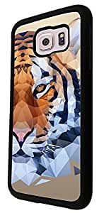 285 - Cool Fun Tiger face Design For Samsung Galaxy S6 Egde Fashion Trend CASE Back COVER Plastic&Thin Metal