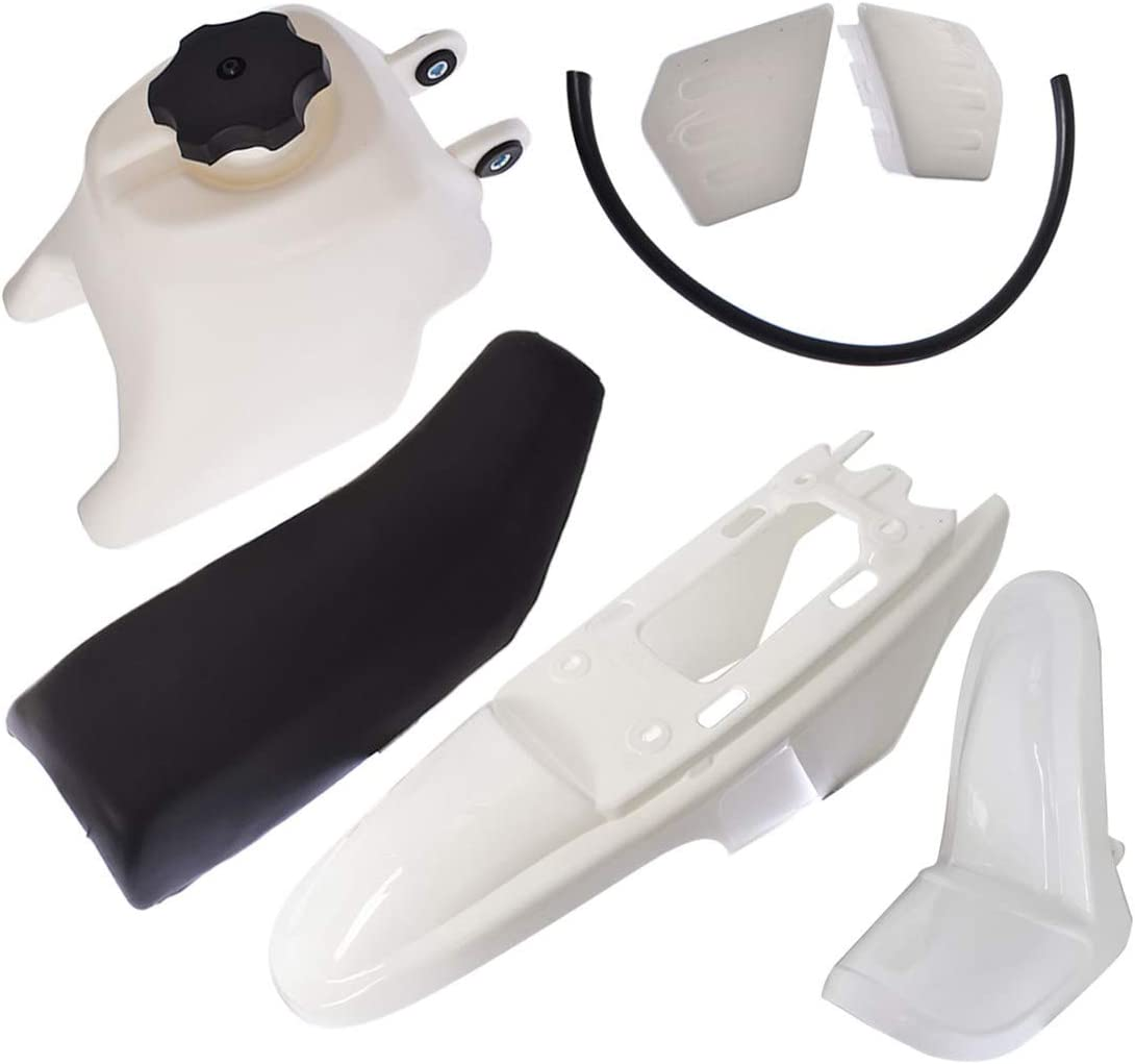 WFLNHB Plastic Fender Body Seat Gas Tank Kit Replacement for Yamaha PY50 PW50