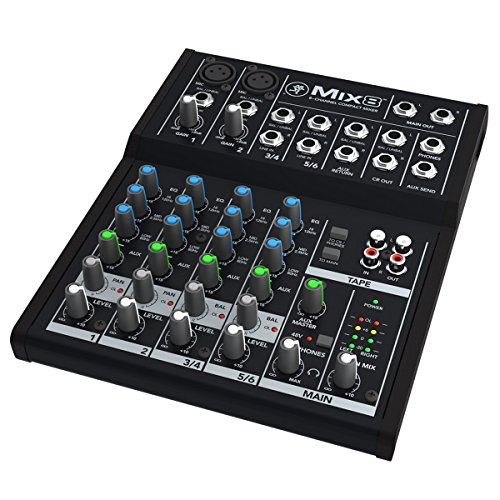 Mackie Mix8 | 8 Channel Non Powered Compact Mixer