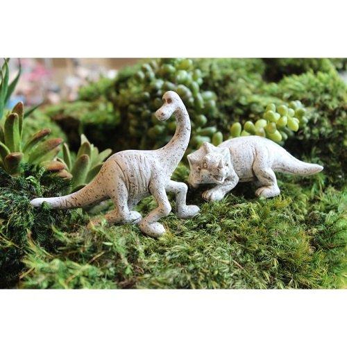 Miniature Garden Set of 2 Dinosaurs Trixie & Dino ()