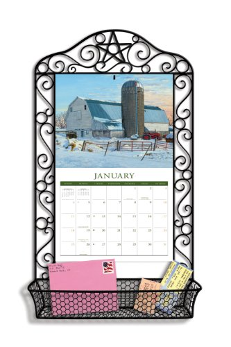 LANG Black Wrought Calendar Frame product image