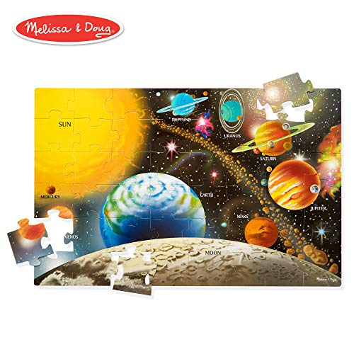 (Melissa & Doug Solar System Floor Puzzle (Floor Puzzles, Easy-Clean Surface, Promotes Hand-Eye Coordination, 48 Pieces, 36