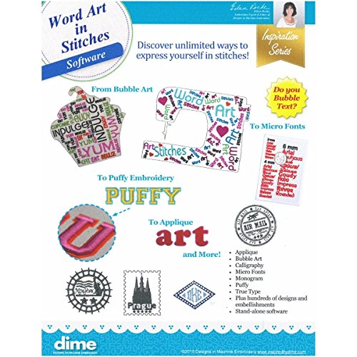 Designs in Machine Embroidery Word Art in Stitches Software