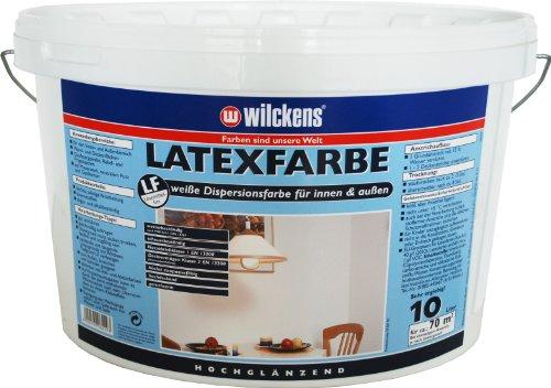 Wilckens Latexfarbe hochglänzend, 10 L, weiß 13490300110