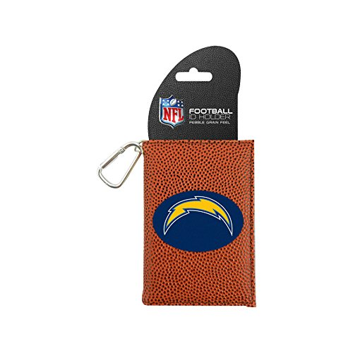 (NFL San Diego Chargers Classic Football ID Holder, One Size, Brown)