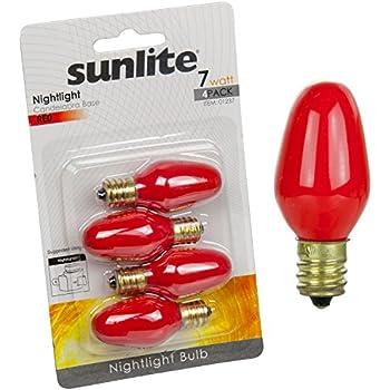 Sunlite 7c7 R Cd4 Incandescent 7 Watt Candelabra Based