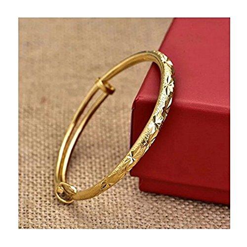 Cuff Platinum Bracelet - kunrong99 Simple Cuff Bracelet 18K Gold Platinum Plated Bangle Bracelet Fashion Jewelry