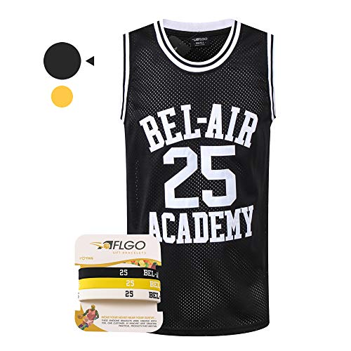 AFLGO Banks #25 Fresh Prince of Bel Air Academy Basketball Jersey, 90