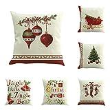 E-Livingstyle Merry Christmas Series Cotton Linen Decorative...