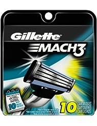Gillette Mach3 Men's Razor Blade Refills, 10 Count (...