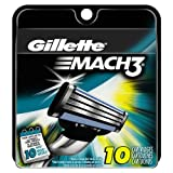 #4: Gillette Mach3 Men's Razor Blade Refills, 10 Count (packaging may vary)