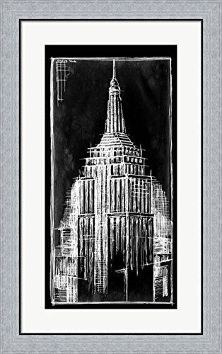 Amazon empire state blueprint by ethan harper framed art print empire state blueprint by ethan harper framed art print wall picture flat silver frame malvernweather