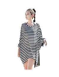Simplicity Women's Beachside Striped Bikini Cover-up
