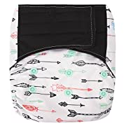 HappyEndings Contoured Day Or Night All in One AIO Hook and Loop Cloth Diaper (+Pocket) Arrows
