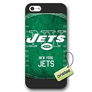 Personalize NFL New York Jets Team Logo Frosted iPhone 5c Black Case Cover - Black by kobestar